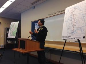 MDNR's Manny Valdez goes over the rail trail rebuild project.