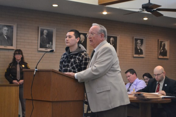 Juan Sanchez, at left, with his attorney Doug Springstead.