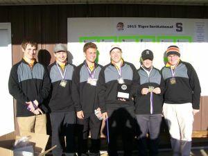 The Ludington winning team includes, left to right, Cooper Wojcicki, Josh Johnson, Ethan Leavitt, Spencer Hackert, Chase Lakari and Ryan Foley.
