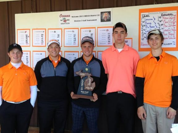 The Ludington Orioles won the District 22 Division 3 Golf Tournament at Oceana Golf Club in Shelby.
