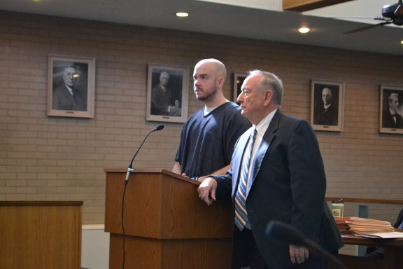 Craig Overla with his attorney, Doug Springstead.