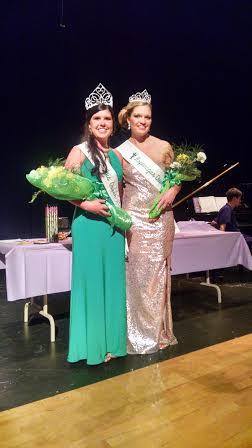 The 2015 Asparagus Queen Courtney Kokx, left, and Runner Up Konnie Vandervelde.