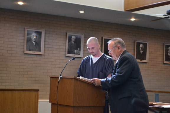 Ronald Hunter with his attorney, Doug Springstead.