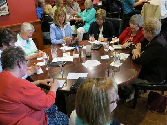 Women Who Care of Oceana County members during their most recent meeting at the Gull Landing in Pentwater.