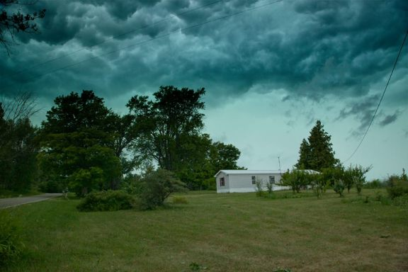 Kevin Kludy shared this photo of the storm in Benona Township.