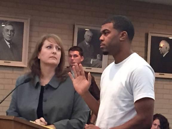 Antonio Sheppard with his attorney, Julie Springstead Waltz.