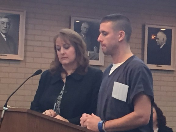 Jordan Miller with his attorney, Julie Springstead Waltz.
