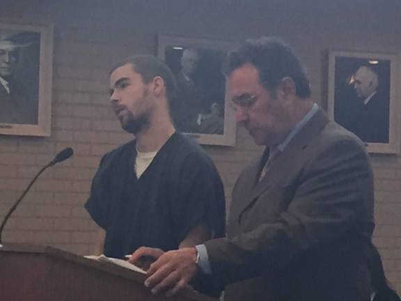 David Wellington with his attorney, Rick Prysock.