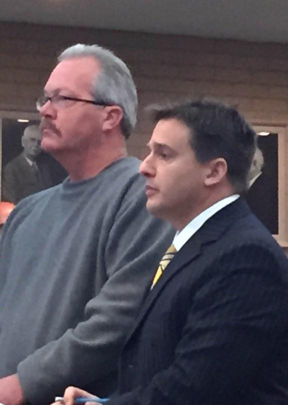 Joseph Terheggen, at left, with his attorney, Jeffrey West.