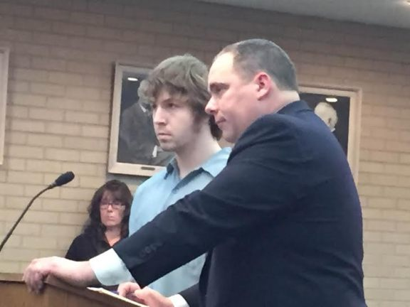 Ryanthoni Hilliard with his attorney, Timothy Hayes.