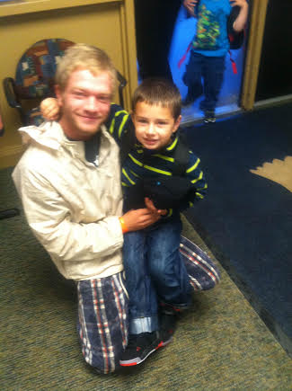Contributed photo of Joe Greiner and Braidan Wilson taken approximately one year ago.