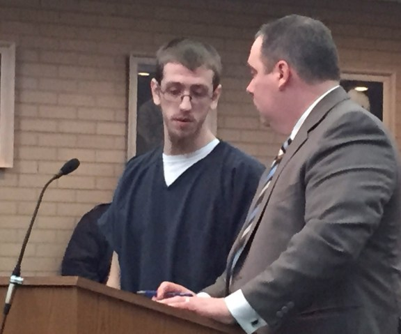 Cody Tyler with his attorney, Timothy Hayes.