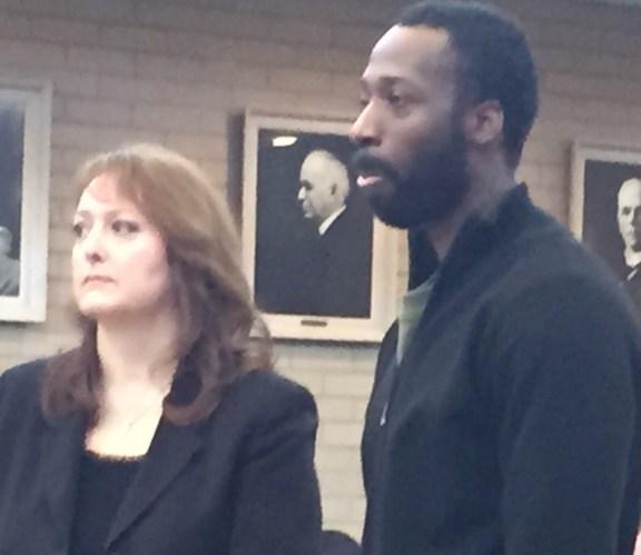 Freddie Patterson II with his attorney, Julie Springstead Waltz.