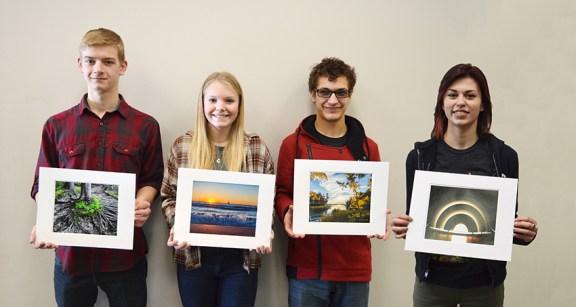 Left to right: Calvin Chase, Devin Battenfield, Joel Spotts, and Lauren Keller.