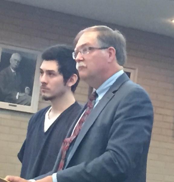 Korbin Garcia with his attorney, Harold Hermanson.