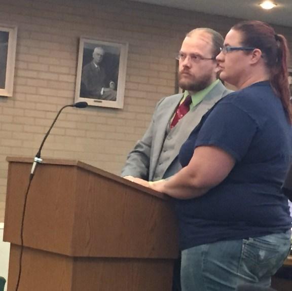 Kimberly Cushman with her attorney, Joshua Eldenbrady.