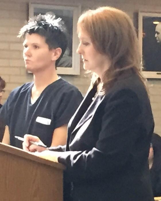 Rachelle Fitch with her attorney, Julie Springstead Waltz.