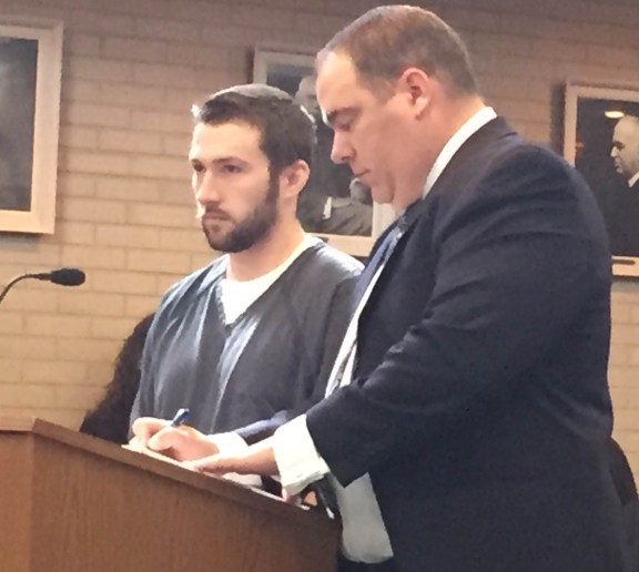 Jacob Wilson with his attorney, Timothy Hayes.