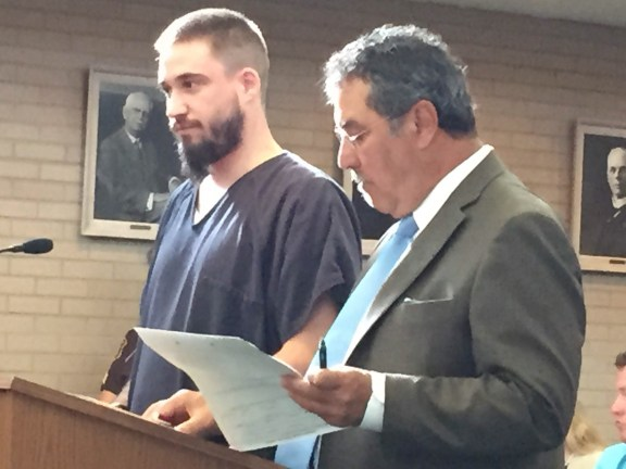 Fred Tanner, Jr., with his attorney, Rick Prysock.