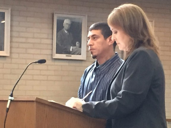 David Quintero with his attorney,  Julie Springstead Waltz.