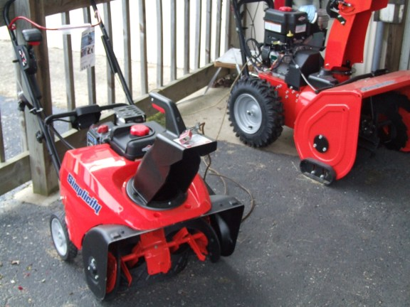 These snowblowers are similar to the ones that were stolen from Burrel's.
