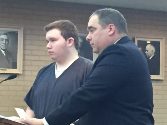 Kenneth Carr with his attorney, Tim Hayes.