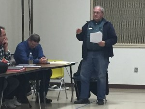 Walkerville Fire Department Administrator Jerry Frick at a fire authority meeting last February.  OCP file photo