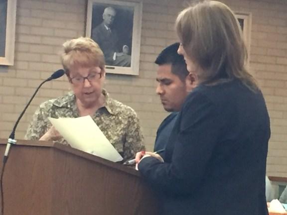 Serafin Delacruz-Ramirez with his intrepreter Penny Burillo, left, and his attorney, Julie Springstead Waltz.