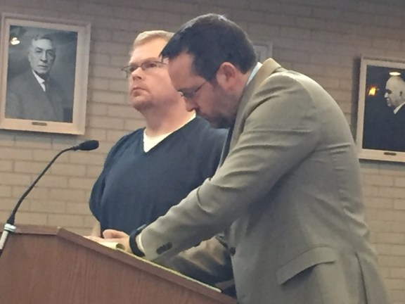 Christopher Eitniear with his attorney, Gary Springstead.