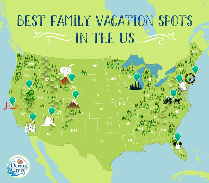 Vacation destinations & best vacation spots in the us: Best Family Vacation Spots In The U S Ocean City New Jersey Ocean City New Jersey