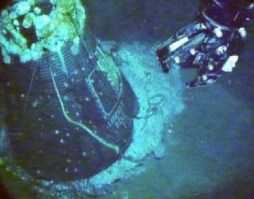 Liberty Bell 7, shown on sea floor, was located by OCEAN EXPLORER 6000 and recovered by MAGELLAN 725