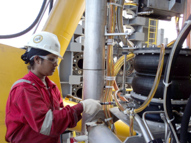 Oceaneering ROV Technician working offshore India