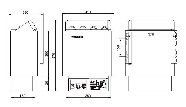 6Kw Sauna Heater with Digital Remote Controls Oceanic