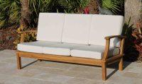 Deep Seat Teak  Sofa Including Full Sunbrella Cushions ...