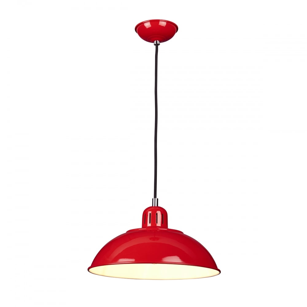 FRANKLIN/P/RED Stylish Red 1 Light Pendant