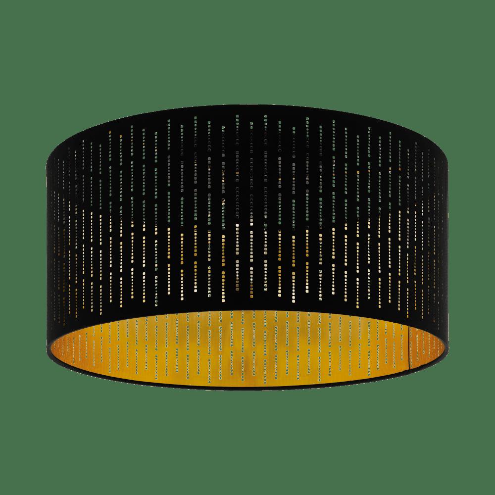eglo eglo 98311 varillas 1 light ceiling light black gold