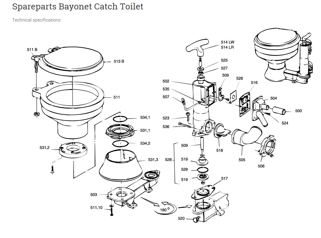 Rm69 Toilet Rebuild Kit 530