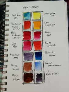 watercolor pallete