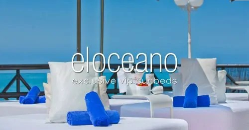 Exclusive VIP Sunbed Loungers at El Oceano, Mijas Costa, Costa del Sol, Spain