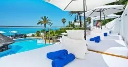 Stunning Views from the VIP Sunbeds at El Oceano Hotel on the Costa del Sol in Spain