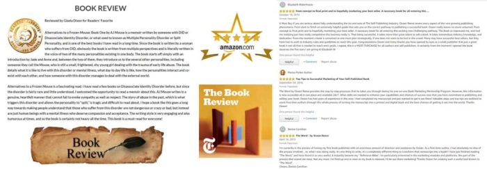 Book Reviews are essential to your awareness. There is no book without people and reviews and endorsements create activity..