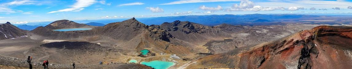 Vulkanlandschaft des Tongariro Alpine Crossing im Tongariro National Park