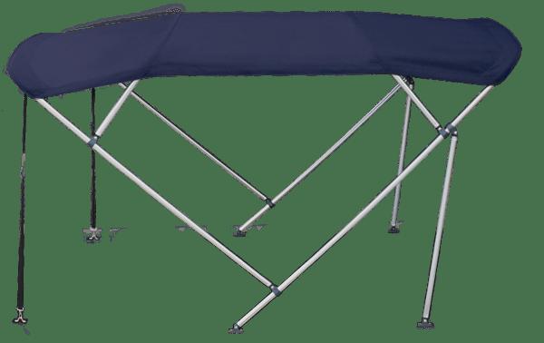 4 Bow 15 17m Blue Boat Bimini Top Canopy Cover W Rear