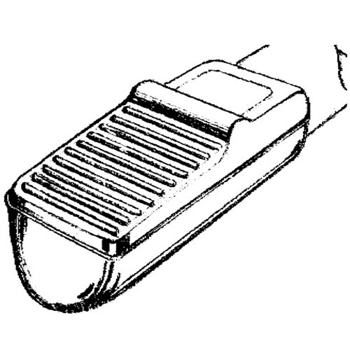 Attendant Foot Lift for Tube Of Wheelchair, Gray