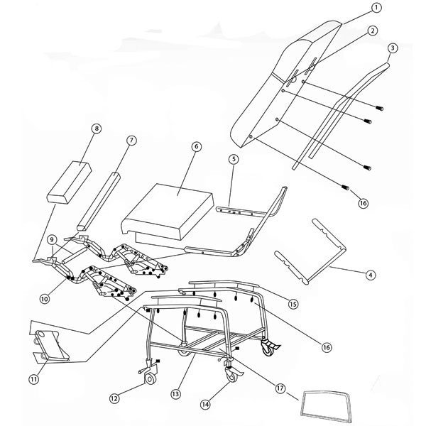 Drive Medical Recliner Mechanism for D574 Recliner