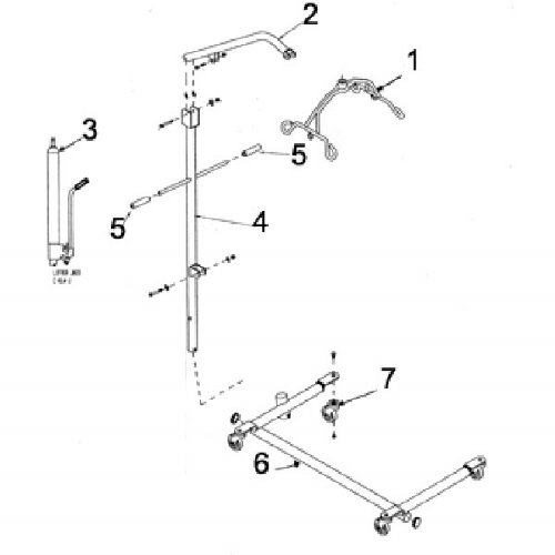 Hoyer Cradle Assembly