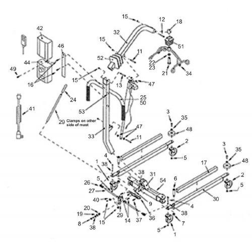 Hoyer Leg Pivot Bushing for Patient Lifter