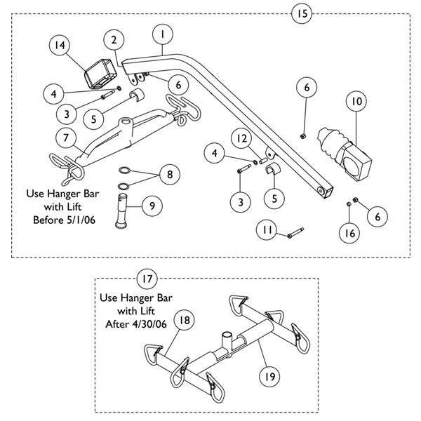 Invacare Hanger Pin for Patient Lifter