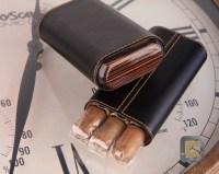 Cigar Holder Black Leather | Engraving