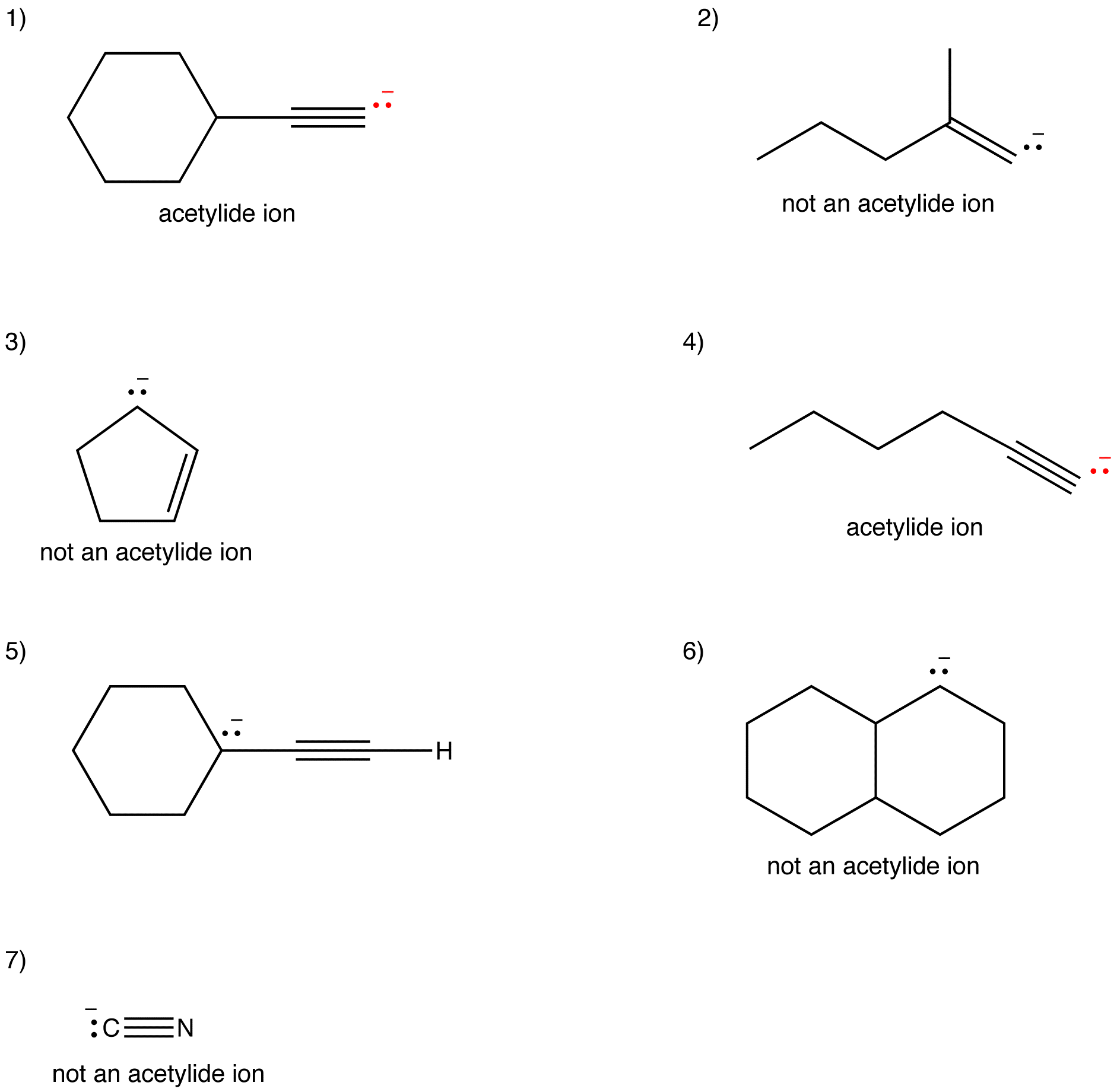 Acetylide Ion Answers